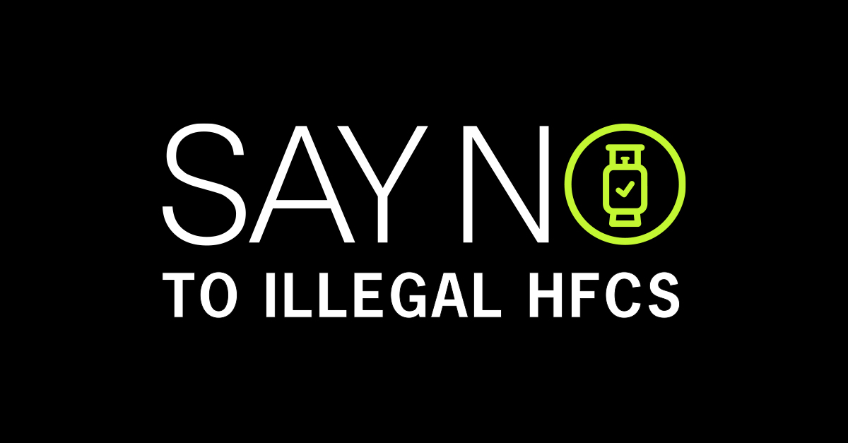 Say No To Illegal HFC Refrigerants logo